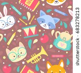 school seamless pattern for... | Shutterstock .eps vector #683278213
