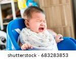 portrait of adorable infant... | Shutterstock . vector #683283853
