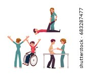 medical rehabilitation ... | Shutterstock .eps vector #683287477