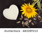 Fresh Sunflower Plant With...