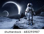 astronaut and space  | Shutterstock . vector #683293987