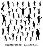 collection nice silhouettes | Shutterstock . vector #68329561