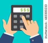 raster business or finance... | Shutterstock . vector #683300233