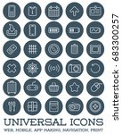 30 universal icons set for all... | Shutterstock . vector #683300257