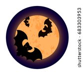 vector illustration of a scary... | Shutterstock .eps vector #683303953