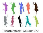 colored silhouettes of... | Shutterstock .eps vector #683304277