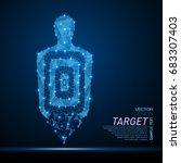 abstract polygonal light shot... | Shutterstock .eps vector #683307403
