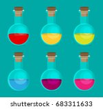 flat chemical icon with... | Shutterstock .eps vector #683311633