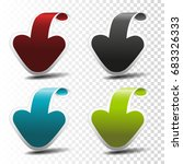 vector black  blue  red and... | Shutterstock .eps vector #683326333