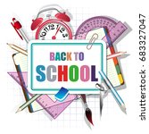 back to school  vector... | Shutterstock .eps vector #683327047