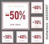 sale poster this weekend in... | Shutterstock .eps vector #683333407