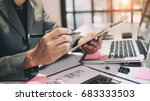 audit concept bookkeeper or... | Shutterstock . vector #683333503