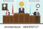 judical court interior. | Shutterstock .eps vector #683350717