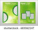 a set of brochures from green... | Shutterstock .eps vector #683362147