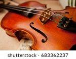 photo of violin close up. close ... | Shutterstock . vector #683362237