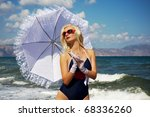 attractive blond woman in the... | Shutterstock . vector #68336260