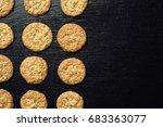 domestic stacked biscuit sweet...   Shutterstock . vector #683363077