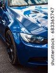 close up of bmw m3 interlagos... | Shutterstock . vector #683365747