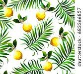 seamless topical vector pattern ... | Shutterstock .eps vector #683366857