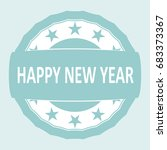 happy new year rubber stamp.... | Shutterstock .eps vector #683373367