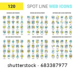 vector set of 120 spot line web ... | Shutterstock .eps vector #683387977