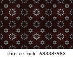 brown background. colored... | Shutterstock . vector #683387983