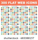 300 flat web icons   seo and... | Shutterstock .eps vector #683388157