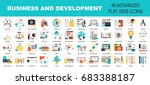 Vector collection of flat and colorful business and development concepts. Design elements for web and mobile applications. | Shutterstock vector #683388187