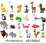 extra large ets animals... | Shutterstock .eps vector #68338861