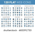 vector set of 120 flat web... | Shutterstock .eps vector #683391733