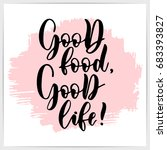 "hand lettering quote ""good food ... 