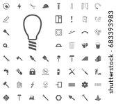 lightbulb icon isolated on... | Shutterstock .eps vector #683393983