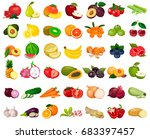 large set of a collection of... | Shutterstock .eps vector #683397457