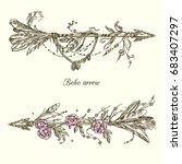 two beautiful arrows boho....   Shutterstock .eps vector #683407297