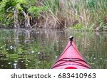 bow of the red kayak on the... | Shutterstock . vector #683410963