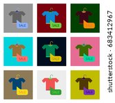 flat assembly icons of sale t... | Shutterstock .eps vector #683412967