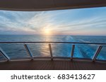 sea view from cruise ship... | Shutterstock . vector #683413627