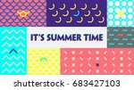 summer time colorful  banner or ... | Shutterstock .eps vector #683427103