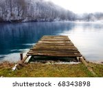 Wooden Pier On The Mountain...