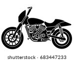 old vintage motorcycle | Shutterstock .eps vector #683447233