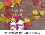 back to school and education... | Shutterstock . vector #683447617
