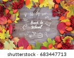 back to school and education... | Shutterstock . vector #683447713