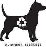 silhouette of a dog with a... | Shutterstock .eps vector #683453593