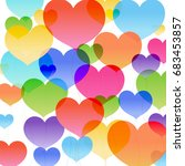 hearts background | Shutterstock . vector #683453857
