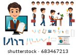 character creation set. young... | Shutterstock .eps vector #683467213