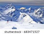 Off Piste Skiers Near Les Deux...