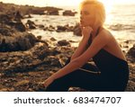 fashion outdoor photo of... | Shutterstock . vector #683474707