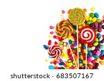 mixed colorful sweets  | Shutterstock . vector #683507167
