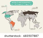 world map infographic template. ... | Shutterstock .eps vector #683507887