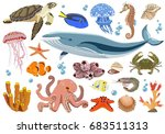 vector collection of... | Shutterstock .eps vector #683511313